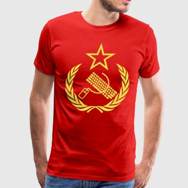 Communist Geek Nerd Flag - Men's Premium T-Shirt