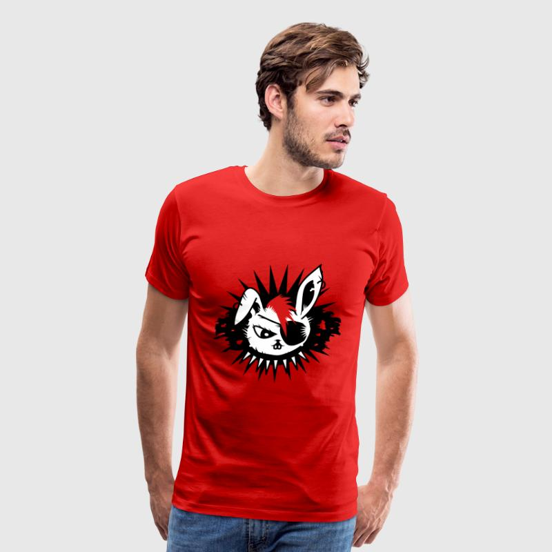 rabbit with an eye patch and a mohawk - Men's Premium T-Shirt