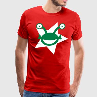 kids alien with googly eyes on a star - Men's Premium T-Shirt