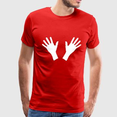 hands, handprint - Men's Premium T-Shirt