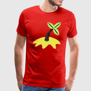palm tree and beach - Men's Premium T-Shirt
