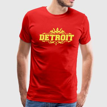 DETROIT michigan usa down with detroit - Men's Premium T-Shirt