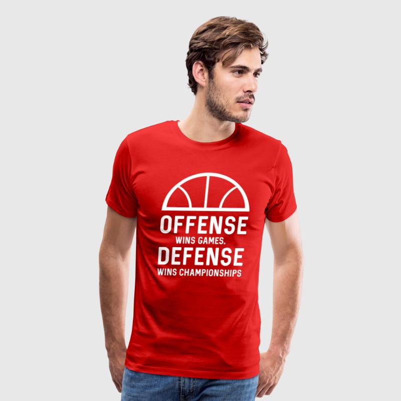 Offense Wins Games. Defense Wins Championships - Men's Premium T-Shirt