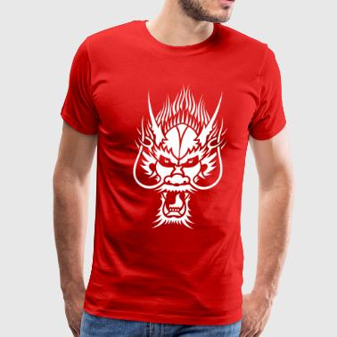 Chinese Dragon Head 1 - Men's Premium T-Shirt