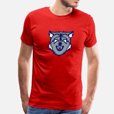 ca28e8f8d873 wolf logo cartoon face - Men's Premium T-Shirt