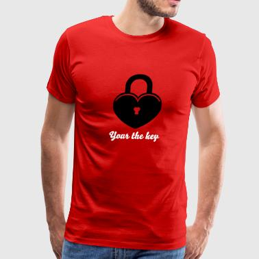 Lock to my heart 1 - Men's Premium T-Shirt