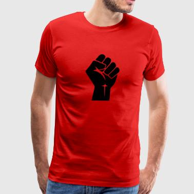 Raised Fist Logo (Vector) - Men's Premium T-Shirt