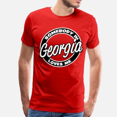 Helen Somebody In Georgia Loves Me - Men's Premium T-Shirt