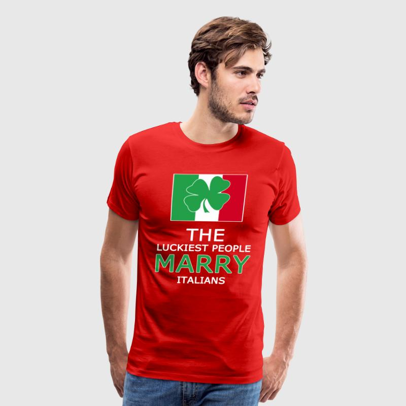 The Luckiest People Marry Italians T-shirt - Men's Premium T-Shirt