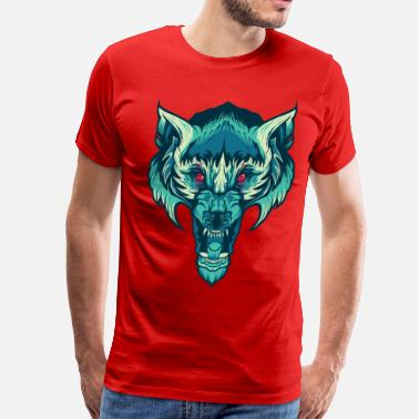 Dope Wolf Awesome Wolf - Men's Premium T-Shirt