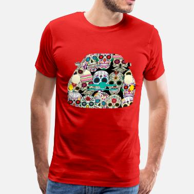 Fiat Abarth Sugar Skull Fiat - Men's Premium T-Shirt