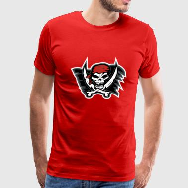 Pirate Flag Red - Men's Premium T-Shirt