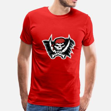 Red Pirate Flag Pirate Flag Red - Men's Premium T-Shirt