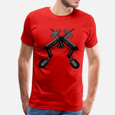 Crossed Guns Paintball. Gun Cross. - Men's Premium T-Shirt