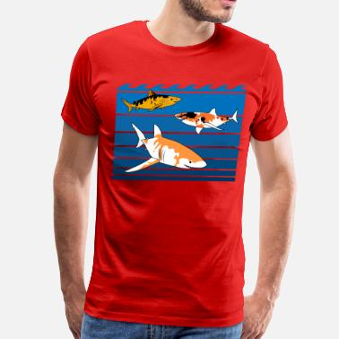 Shark koi patterns - Men's Premium T-Shirt
