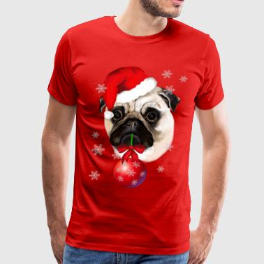 A Very Merry Christmas Pug - Men's Premium T-Shirt