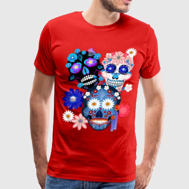 3 Skulls-Day Of The Dead - Men's Premium T-Shirt