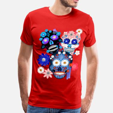 Day Of The Dead 3 Skulls-Day Of The Dead - Men's Premium T-Shirt