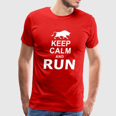 Keep Calm and RUN - Men's Premium T-Shirt