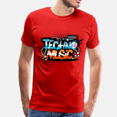 Music Techno Techno Music - Men's Premium T-Shirt