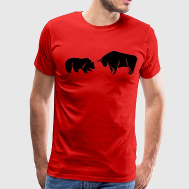 Bull And Bear Bear vs Bull - Men's Premium T-Shirt