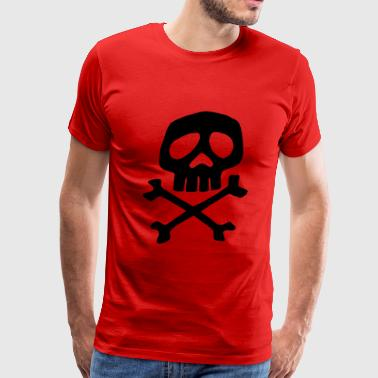 Captain Harlock skull roc - Men's Premium T-Shirt