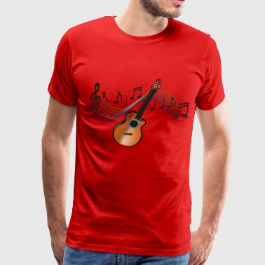 Acoustic Guitar - Men's Premium T-Shirt