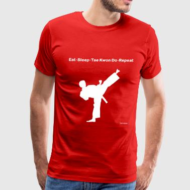 Eat Sleep Karate Repeat - Men's Premium T-Shirt