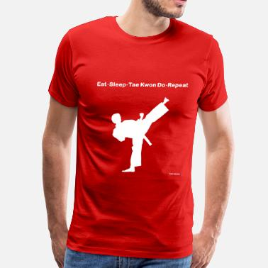 Sleeping Karate Eat Sleep Karate Repeat - Men's Premium T-Shirt
