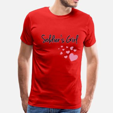 Girl Soldier Soldier's Girl with Hearts - Men's Premium T-Shirt