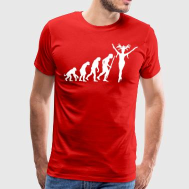Las Vegas Evolution Showgirl - Men's Premium T-Shirt