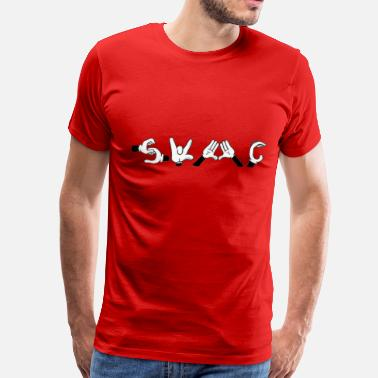 Swagger Mickey Swagger Hands - Men's Premium T-Shirt