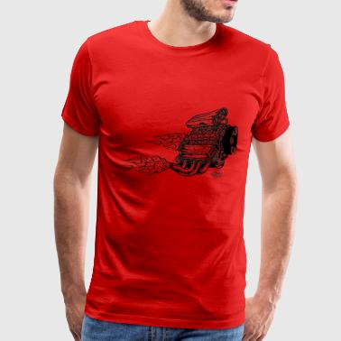 engines_with_horizontal_flames - Men's Premium T-Shirt