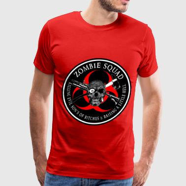 Zombie Squad 3 Ring Patch outlined - Men's Premium T-Shirt