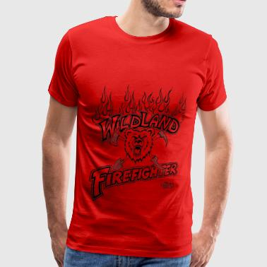 wildland_firefighter_with_bear_shovel - Men's Premium T-Shirt