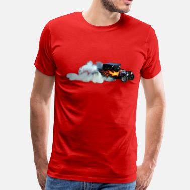 Drag Racing Vintage Flame Vintage Drag-Racer - Men's Premium T-Shirt