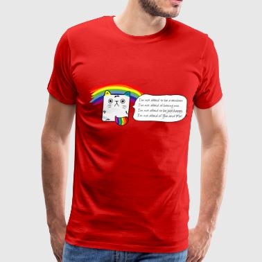 SWEET RAINBOW KITTYCAT - Men's Premium T-Shirt