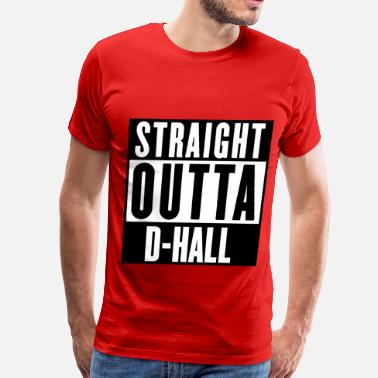 Music Hall STRAIGHT OUTTA D-HALL - Men's Premium T-Shirt
