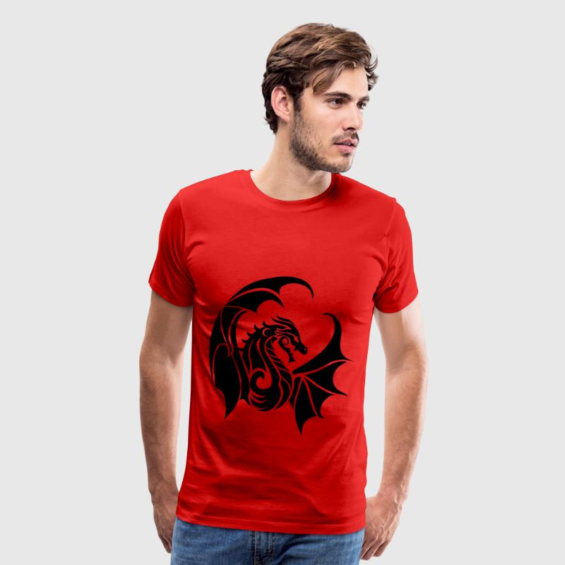 dragon logo crescentmoon96 by benybing d7j43yn - Men's Premium T-Shirt