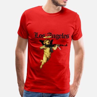 5774cb4d85f31 Bompton Los Angeles Angel with AK 47 - Men's Premium T-Shirt