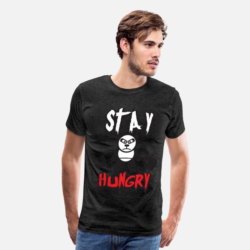 31252a45 Stay Hungry (Panda Bear) - Gym Motivation Men's Premium T-Shirt    Spreadshirt