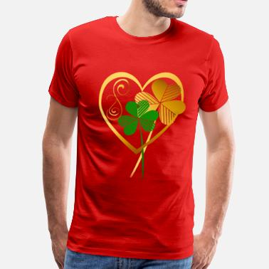 Shamrock Heart Shamrocks Of My Heart- - Men's Premium T-Shirt