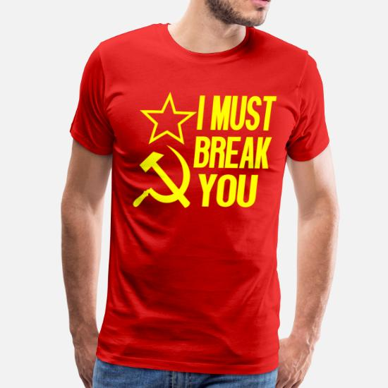Rocky IV - I Must Break You Men's Premium T-Shirt   Spreadshirt