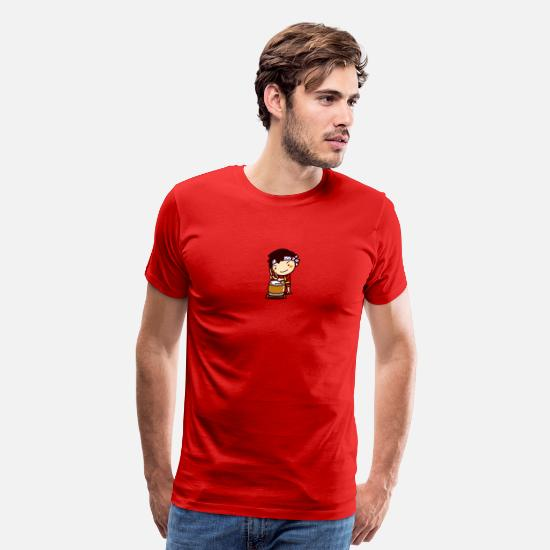 Taiko T-Shirts - Matsuri Taiko Boy 2 - Men's Premium T-Shirt red
