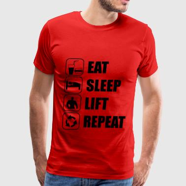 Gain Eat Sleep Lift Repeat - funny gym - Men's Premium T-Shirt