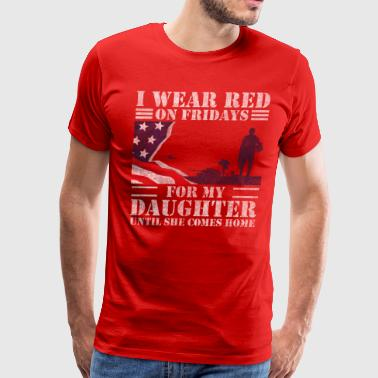 Afghanistan Veteran Daughter Red Friday Shirts For Veteran Military Daughter - Men's Premium T-Shirt