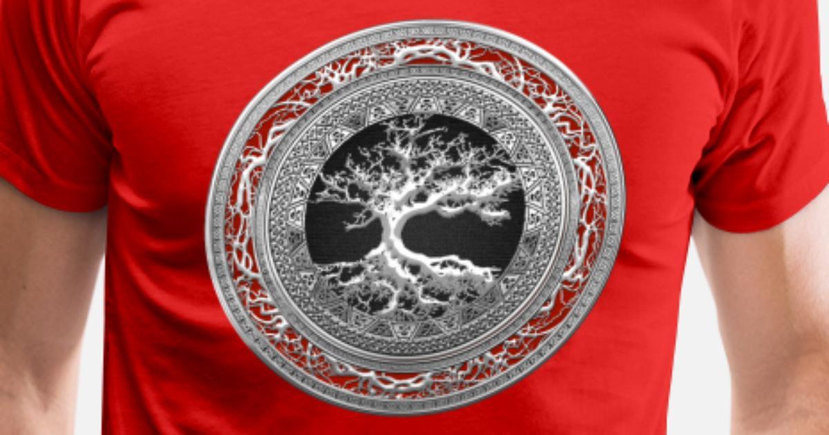 b00a4c8c Silver Celtic Tree of Life Men's Premium T-Shirt | Spreadshirt