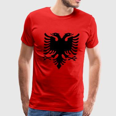 flag of albania - Men's Premium T-Shirt