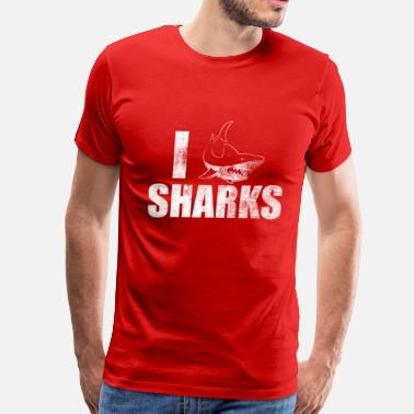I Heart Sharks Vintage I Love Sharks - Men's Premium T-Shirt