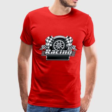black racing emblem - Men's Premium T-Shirt